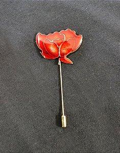 Broche Rosa Vermelha