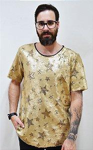 Camiseta Paetê Estrelas