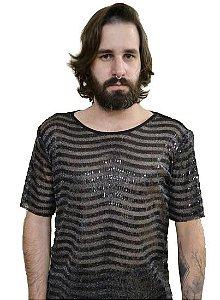 Camiseta Paetê Listras