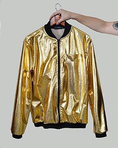 Jaqueta Croco Dourada