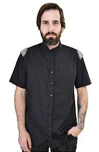 Camisa Bordada Preta
