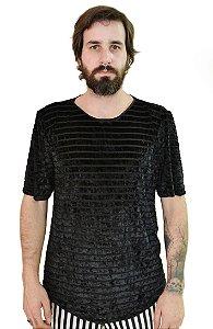 Camiseta Veludo Listras