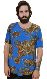 Camiseta Arabesco Azul