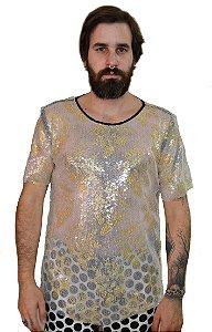 Camiseta Paetê Transparente