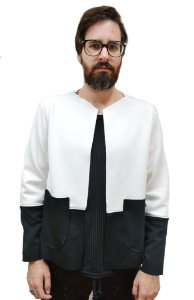 Jaqueta Neoprene Black&White