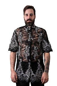 Camisa Renda Preta