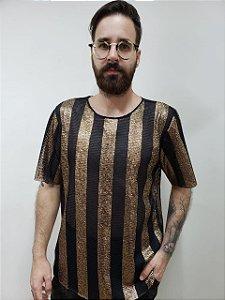 Camiseta Listras Gold