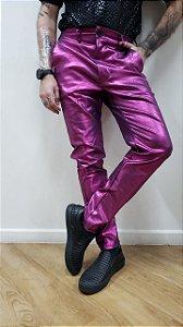 Calça Metalizada Rosa