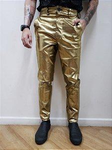 Calça Metalizada Gold