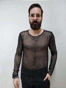 Camiseta de manga longa Tricot