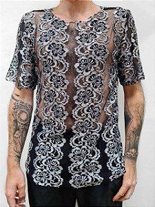 Camiseta renda Silver