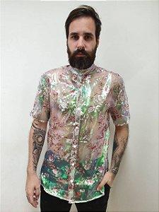 Camisa Organza Floral