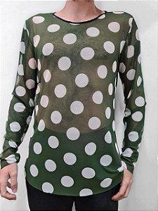 Camiseta Poá Verde