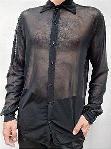 Camisa Tule Preta