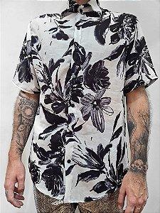 Camisa Flores Pretas