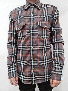 Camisa Xadrez Marrom