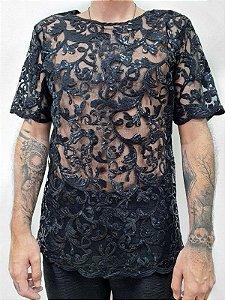 Camiseta Detalhes Paetê