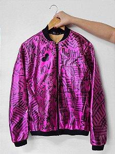 Jaqueta Metalizada Grafitti Pink