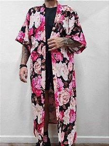 Kimono Jardim Longo