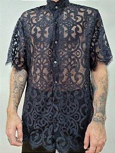 Camisa Gótica Preta