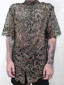 Camisa Flor Dourada