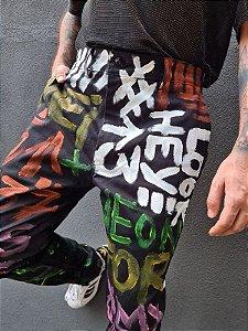 Calça Grafitti Colorido