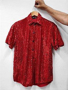 Camisa Paetê Fogo