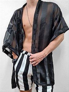 Kimono Jack Preto