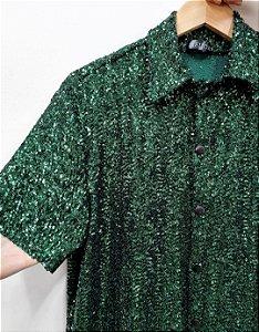 Camisa Paetê Verde