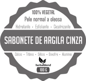 SABONETE VEGETAL ARGILA CINZA