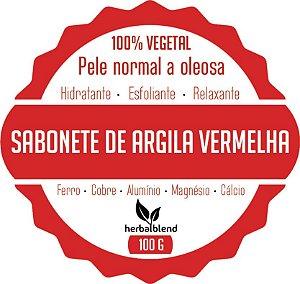 SABONETE VEGETAL ARGILA VERMELHA