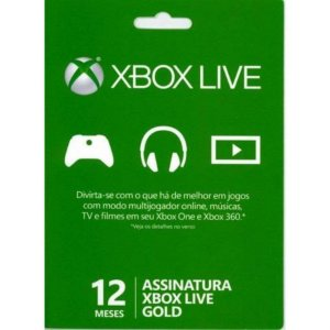 XBOX LIVE GOLD CARD 12 MESES