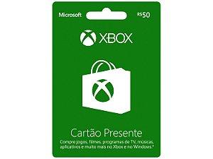 XBOX CARD R$ 50
