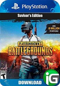 Playerunknown's Battlegrounds (PUBG) - Edição dos Sobreviventes - PS4
