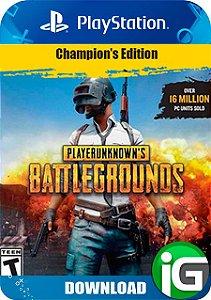 Playerunknown's Battlegrounds (PUBG) - Edição dos Campeões - PS4