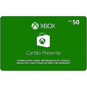 Pré-Pago Xbox Live - R$ 50