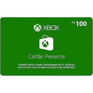 Pré-Pago - Xbox Live R$ 100 (Leia a Descrição!)