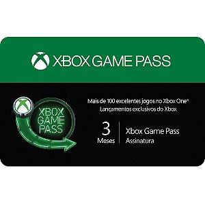 Pré-Pago Xbox Game Pass - 3 Meses (Leia a Descrição!)