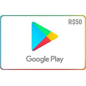 Pré-Pago Google Play - R$ 50 (Leia a Descrição!)
