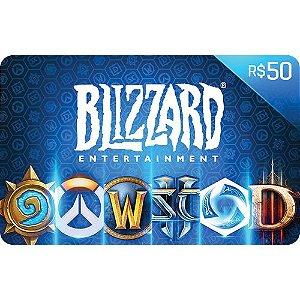 Pré-Pago Blizzard - R$ 50 (Leia a Descrição!)