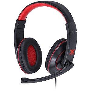 Headset Gamer VX Preto Com Vermelho - Vinik