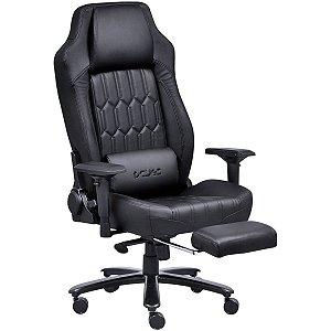 Cadeira Gamer Mad Racer V16 Preta Em Couro Pcyes