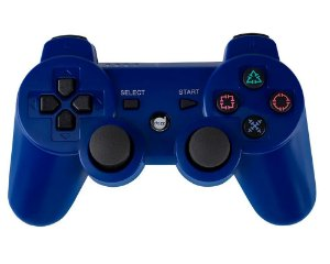 Joystick Dazz Dual Shock Wireless Azul - PS3