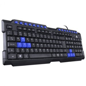 Teclado USB Gamer VX Gaming Dragon V2 Preto com Azul - GT102