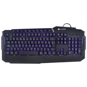 Teclado USB Gamer VX Gaming Hercules LED 3 Cores