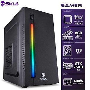 Computador Gamer 3000 R3 3200G 3.6GHZ Mem 8GB DDR4 HD 1TB