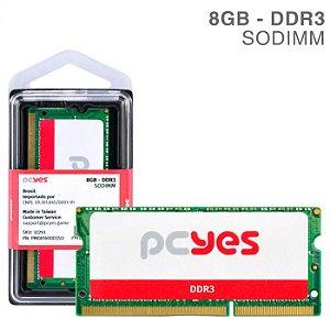 Memória Pcyes Sodimm 8GB DDR3 1600MHZ