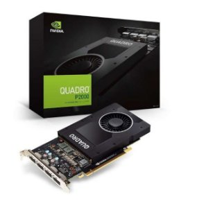 Placa de Vídeo Nvidia Quadro P2000 5GB GDDR5 160 BITS 4 Display Port VCQP2000-PORPB - Suporta até 4 Monitores/TV