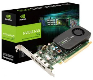 Placa de Vídeo Nvidia Quadro NVS 510 2GB DDR3 128 Bits 4 Mini Display Port VCNVS510 DVI-PB - Suporta até 4 Monitores/TV