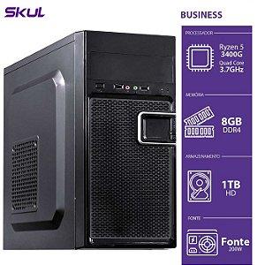 Computador Business B500  R5 3400G 3.7GHZ 8GB DDR4 HD 1TB